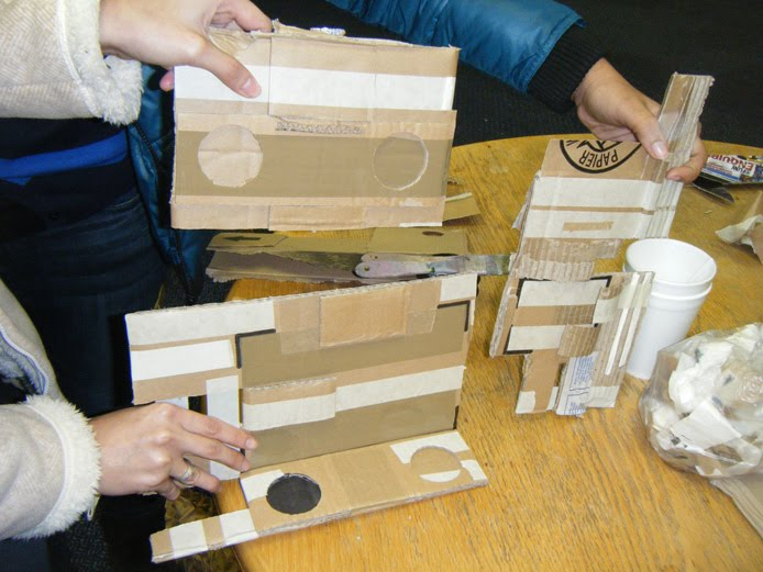 workshop, cardboard, discardboard, edinburgh, sharon phelps